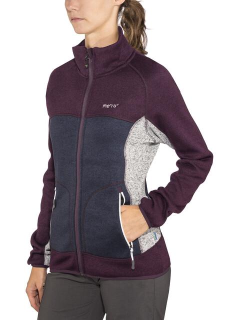 Meru W's Märsta Knitted Fleece Jacket Outer Space Melange